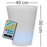 CLE Lichtobjekt LED Blumentopf 40cm RGB mit Fernb.
