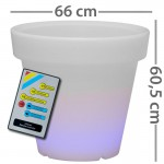 CLE Lichtobjekt LED Blumentopf 66cm RGB mit Fernbedienung