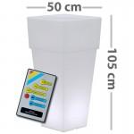 CLE Lichtobjekt LED Blumentopf quadratisch RGB mit Fernbedienung